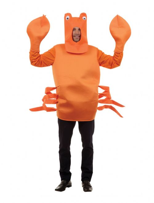 Adults Crab Costume Sea Creature Animal Fancy Dress Outfit
